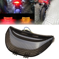 motorcycle parts LED Tail Brake Light Turn Signals for Honda CBR 600RR CBR1000RR RR Fireblade SMOKE