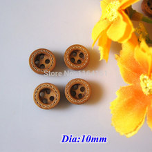 150 pcs/lot 4 Holes Natural Wooden Buttons bulk Scrapbooking products Sewing acessorios 10mm botoes crafts