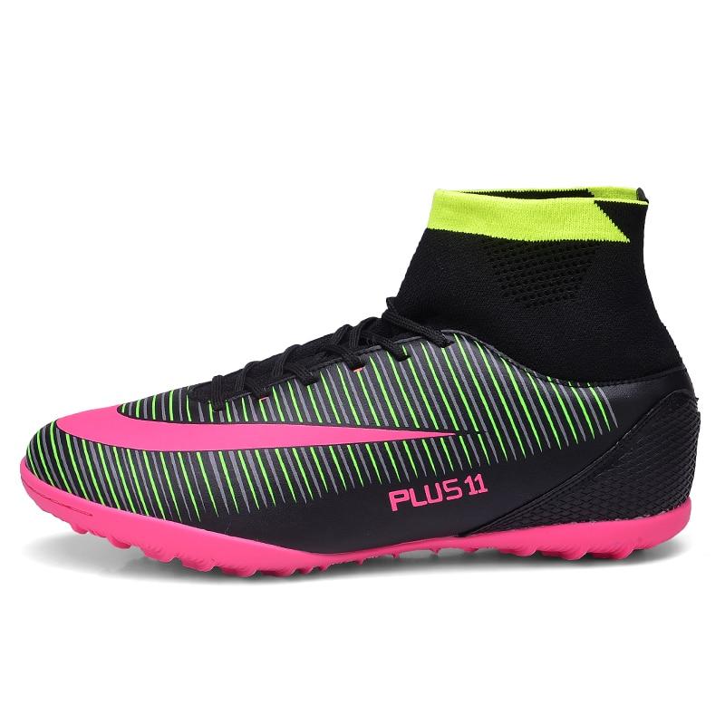 Hombres tobillo uñas rotas botas de fútbol entrenamiento de fútbol picos  largos zapatos de fútbol más tamaño 39 46 fútbol Zapatillas en Zapatos de  fútbol de ... c2fbc4b877baf
