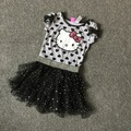 Free Shipping 8 Pieces/lot 4-12 year old girls hello kitty  dress girl summer tutu dress