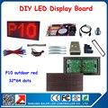 Frete grátis 4 pcs cor vermelha p10 módulos de led + cartão de controle + ímãs + quadro + alimentação + todos os cabos telas de publicidade levou ao ar livre