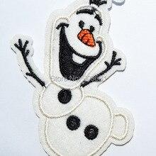 Прекрасный Олаф снеговик Принцесса Эльза друг железо на аппликации или сшить Мода Вышивка Аппликация нашивки мультфильм одежды