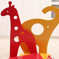 Creative Iron Hollow Bookends Student Cartoon Giraffe Elephant Book By Children S Book Stalls Book Ends
