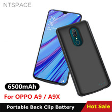 NTSPACE 6500mAh Battery Charger Cases For OPPO A9X Case Ultra Slim Portable Power Bank Charging Cover A9
