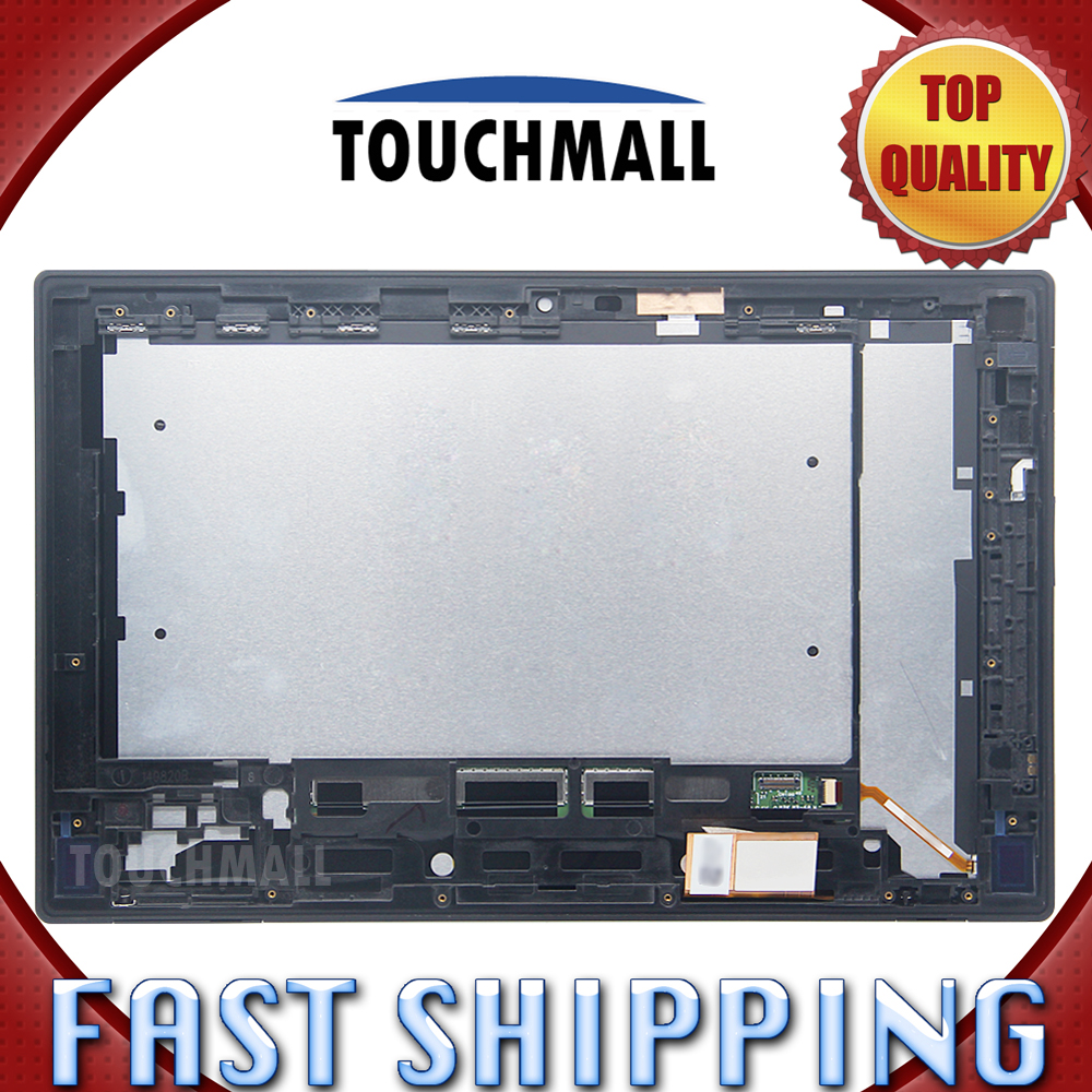 For New LCD Display Touch Screen with Frame Assembly Replacement Sony Xperia Tablet Z 10.1 SGP311 SGP312 SGP321 Free Shipping for sony xperia m c1904 c1905 lcd display with touch screen digitizer frame assembly by free shipping