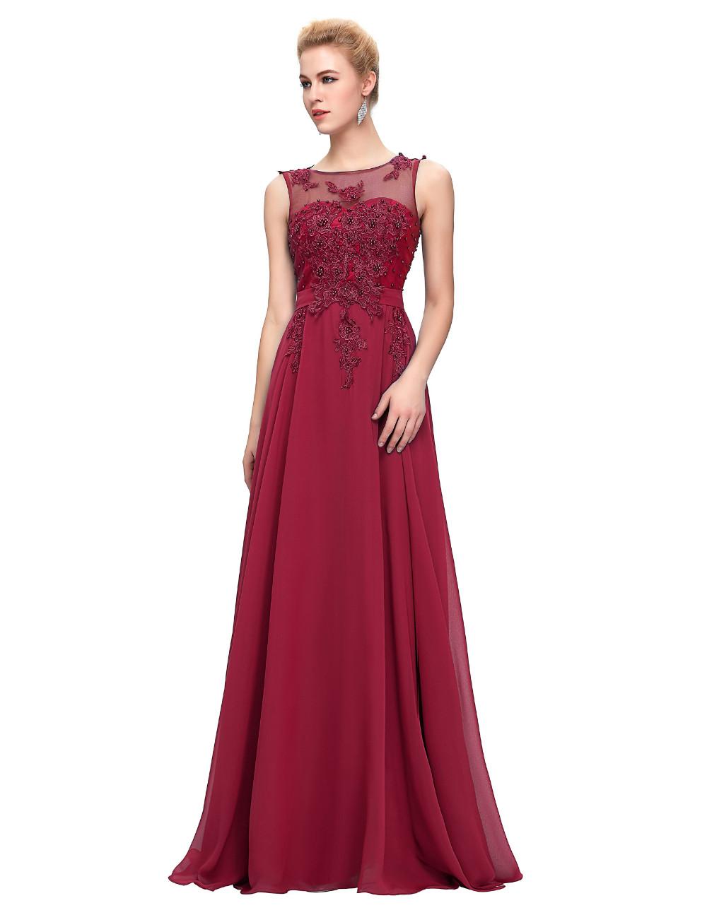 Grace Karin Elegant Long Evening Dresses 2016 Chiffon Pink Purple Red Royal Blue Black Formal Evening Dress Gown Abendkleider 52