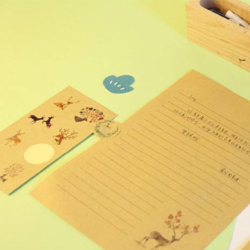 Купить с кэшбэком 160pcs/lot Vintage Cartoon Deer Elk Decorative Paper Seal Sticker Diy Children Sticky Package Label For Diary Notebook Wholesale