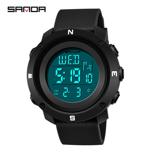 Image 5 - SANDA Reloj Hombre 2018 mody zegarek sportowy męskie zegarki cyfrowe odliczanie zatrzymanie zegarek Relogio Masculino wodoodporna para zegar