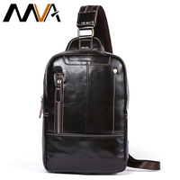 MVA Multi function Leather Backpack for School Bag Genuine Leather Men Backpacks Travel Chest Shoulder Backpack Bag Male 8210