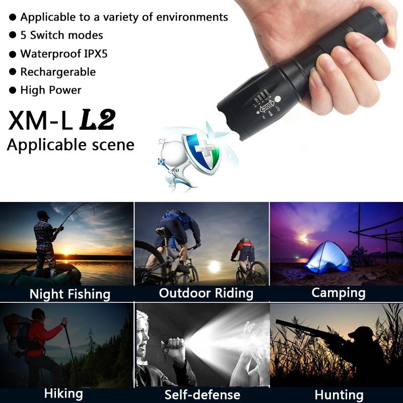 Lanternas e Lanternas led cree xm-t6 lanterna 8000 Tipo de Item : Lanternas