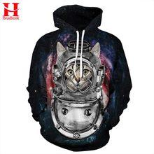 3D cat hoodie deep diver