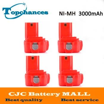 4PCS High Quality New 9.6V 3000mAh NI-MH Battery for MAKITA 9100 9101A 9102A 9120 192321-5 192404-1 192534-8 192534-A