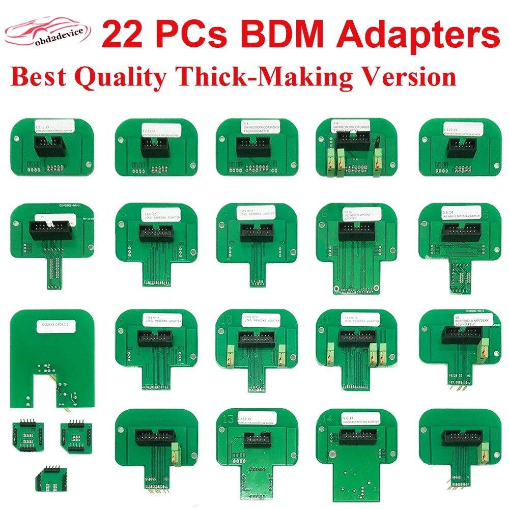 Лучшее качество шт. 22 шт. BDM Адаптеры для KTAG KESS KTM для BDM зонды и BDM Рамка ЭБУ поворотный инструмент шт. 22 шт. зонд адаптер полный комплект