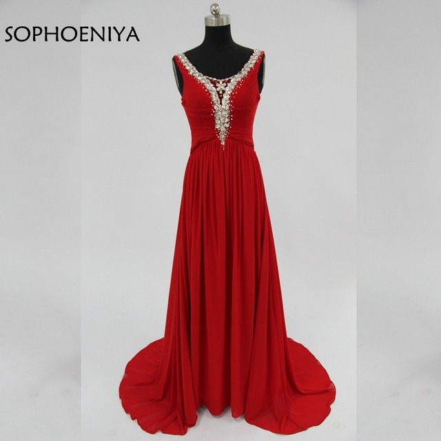 New Arrival Chiffon Red Evening dresses Long 2018 Abendkleider ...