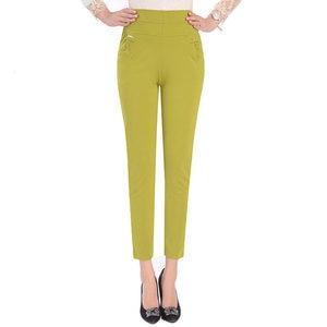 Image 3 - 5XL Pants Women Summer Elastic Slim High Waist Pants Female Trousers Women Casual Streetwear Plus Size Office Ladies Pants Q1427