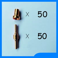Russian Warehouse Delivery Plasma Electrodes Extended Plasma Tip Nozzles Extended Fit PT31 Plasma Cutter Consumables KIT