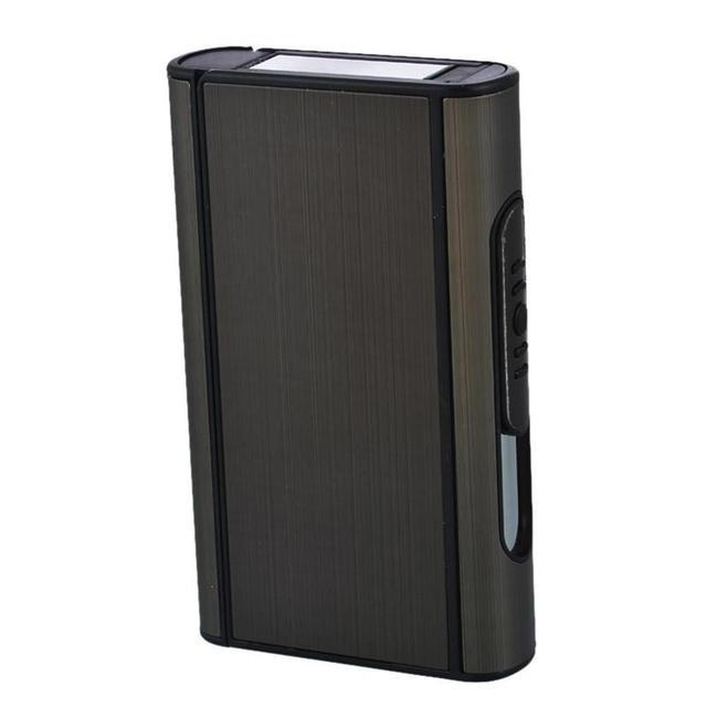 4 Colors Creative Pocket Aluminum & Plastic Cigarette Case Automatic Ejection Holder Metal Box Can Hold 10pcs Cigarettes TEQ9431