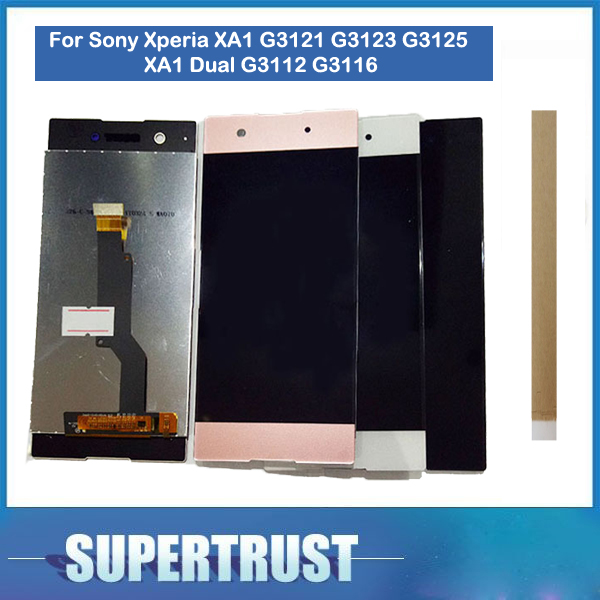 For Sony Xperia XA1 G3121 G3123 G3125 XA1 Dual G3112 G3116 LCD Screen Display With Touch Sensor Glass Assembly with tools+tapeFor Sony Xperia XA1 G3121 G3123 G3125 XA1 Dual G3112 G3116 LCD Screen Display With Touch Sensor Glass Assembly with tools+tape