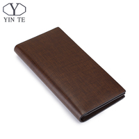 YINTE Fashion Men Wallet Leather Business Brown Purse New Latest Design Leather Wallet Business Men Long