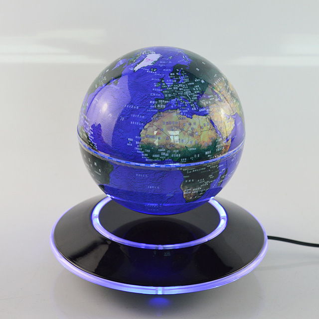 New english 6 inch electronic magnetic levitation floating globe new english 6 inch electronic magnetic levitation floating globe world map with led lights home office gumiabroncs Images