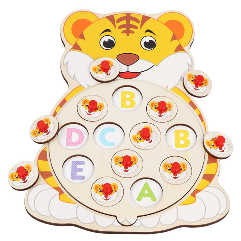 Learning & Education Toys Children's Wooden Flower Memory Chess Develop Baby intelligence Toys Parent-child table games 40