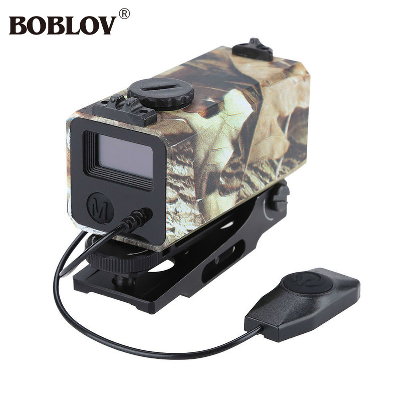 BOBLOV LE032 Mini Chasse Portée de Fusil Tactique Portée Vitesse Mesurer Mètre de Distance OLED Sentier avec Rail Mount Léger