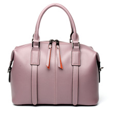 Womens New Leather Pillow Multi-Colored Tote Bag Fashion European and American High-Volume Boston