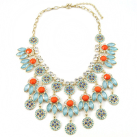 New Design Luxury Bohemian Crystal Collar Necklace Fashion Chunky Statement Gift Jewelry Women Free Shipping