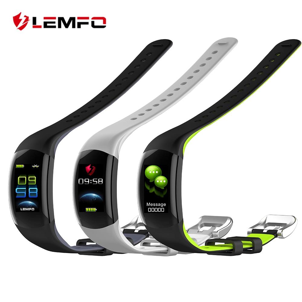 LEMFO LT02 Smart Armband Farbe LCD Fitness Armband Pulsmesser Fitness Armband IP68 Wasserdicht Pedometer Smart Band