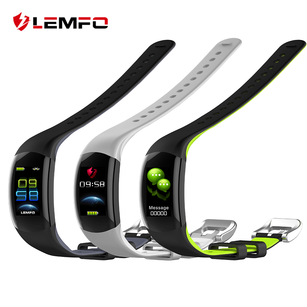 LEMFO LT02 Smart Wristband Color LCD Fitness Bracelet Heart Rate Monitor Fitness Bracelet IP68 Waterproof Pedometer Smart Band lemfo id115 hr plus smart bracelet fitness and sleep tracker pedometer heart rate monitor smart band wristband