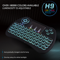 Multi Color Backlight Mini Keyboard 2 4G Wireless Keyboard Adjustable Rainbow Color For Mini PC Android