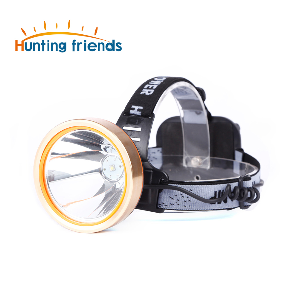 Hunting friends LED Headlamp 18650 Rechargeable Headlight Waterproof Flashlight Forehead Torch Coon Hunting Lights Fishing Lamp high quality 2 mode power 5w led headlight 48000lx outdoor fishing headlamp rechargeable hunting cap light