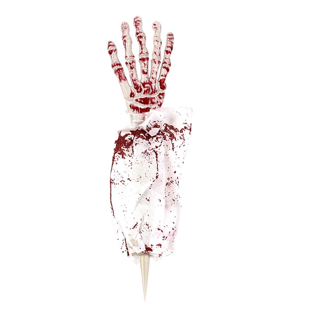 1pcs Skeleton Hand Bone Decortaive Harror Stimulation Fake Cloth Ghost Hand Fake Hand for Halloween Tricky Prop