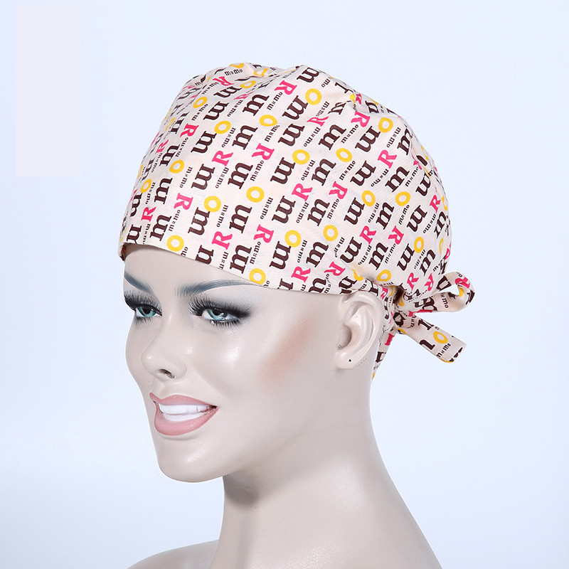 100% Cotton Letters Print Doctors Nurses Medical Cap Surgical Caps Beauty Salon Workwear Caps Casual Scraf Pirate Hat
