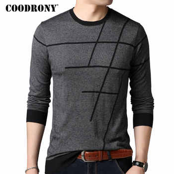 COODRONY Sweater Men Casual Striped O-Neck Pullover Men Clothes 2018 Autumn New Arrivals Pull Homme Plus Size Thin Sweaters 8150 - DISCOUNT ITEM  47% OFF All Category