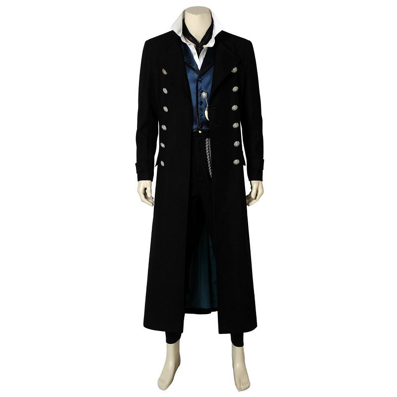 Fantastic Beasts The Crimes of Grindelwald Cosplay Gellert  Grindelwald Costume Halloween Adult Men Outfit Full Set Custom Made