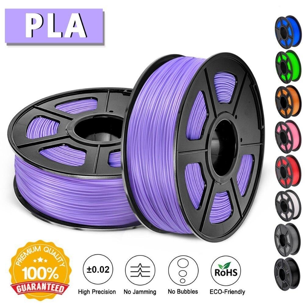 SUNLU 1.75mm PLA 3D Printer Filament 100% No Bubble Plastic PLA Filament 1KG Non-toxic Printing Consumable