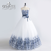 2017 New Arrival Long Puffy Ball Gown Prom Dresses Robe De Soiree Sweetheart 3D Floral Print