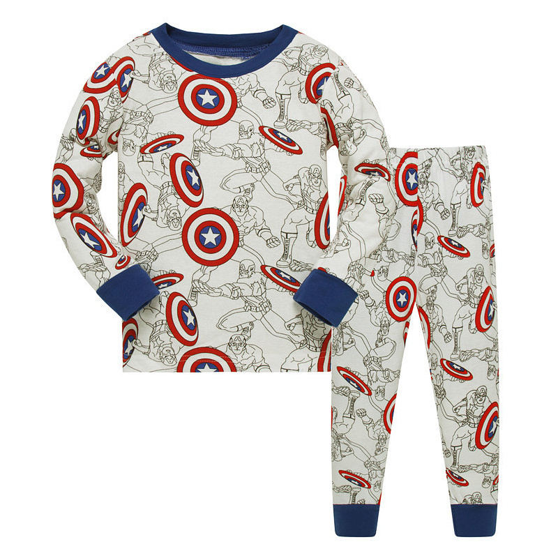 1SET 8R-79, avenger Children boys   pajamas     sets  , long sleeve sleepwear suit for 3-8Y