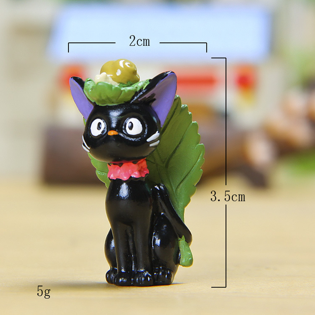 Resin Miyazaki Cat Ornaments Figurines Animal Miniatures Living Room Bedroom Study Office Garden Decoration Crafts Gifts Home 5
