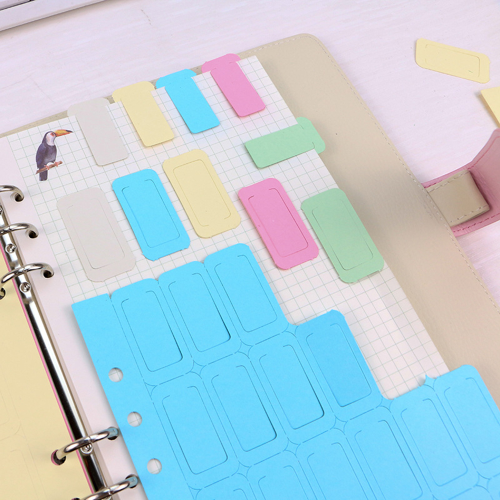 5 Colors 6 Holes Binder Spiral Notebook Divider Index Tap Binder Index Dividers Paper Clips For Notebook Office School Bookmark