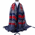 New Arrive Bohemia National Style  Autumn Floral Printed Scarf Tassel Cotton Scarf Shawl Soft Women Long Pashmina Scarves
