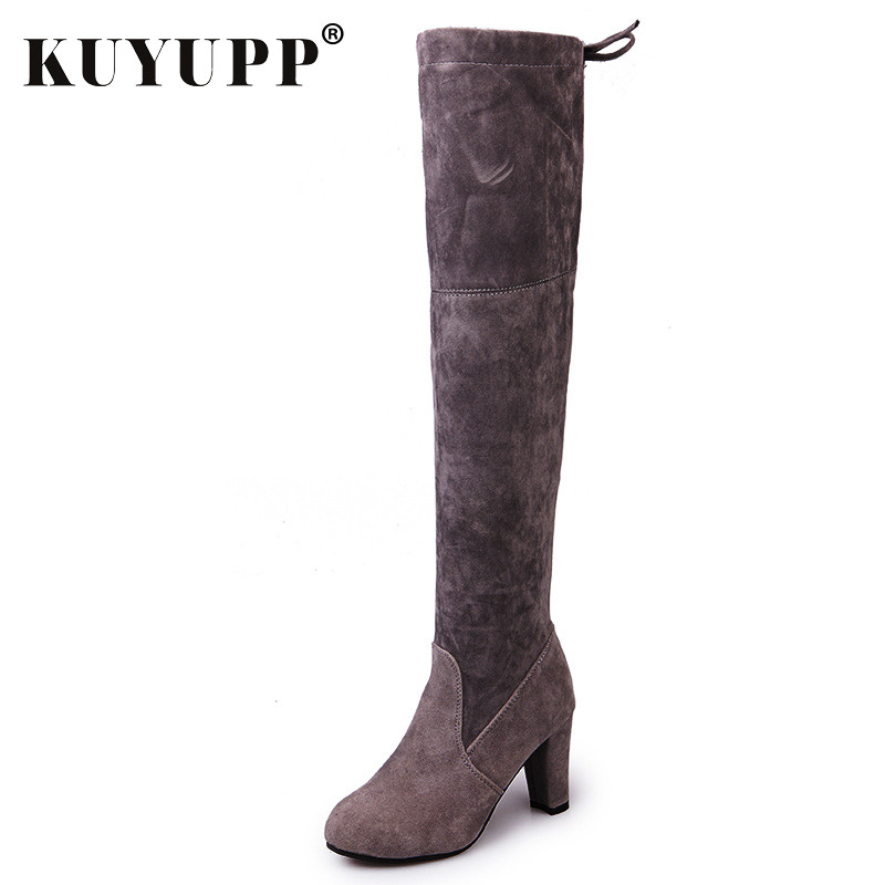 Sexy Over The Knee Women Winter Boots Fashion High Heel Woman Knee-High Boots Casual Ladies Boot Warm Winter Shoes DX1047 winter boots women over the knee boots 2017 high heel sexy boots fashion platform boot pink red black big size 43 shoes
