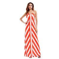 Sexy Stripe Camisole Crossing Longuette New Summer Long Women Dress Vestidos Beach Party Oodji Shein Floor
