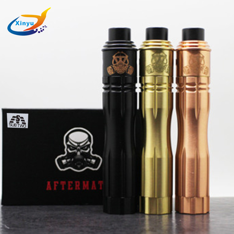 Aftermath mod kit Mechanical Mods kit 18650 battery 510 wire with RDA atomizer RED Copper/brass pen Kits Electronic Cigarette