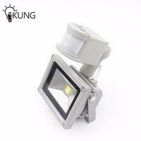 One Combo 4PCS 10W PIR LED Flood Light Motion Sensor Outdoor Light IP65 AC220V Induction Sense