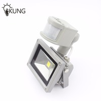 One Combo 4PCS 10W PIR LED Flood Light Motion Sensor Outdoor Light IP65 AC220V Induction Sense