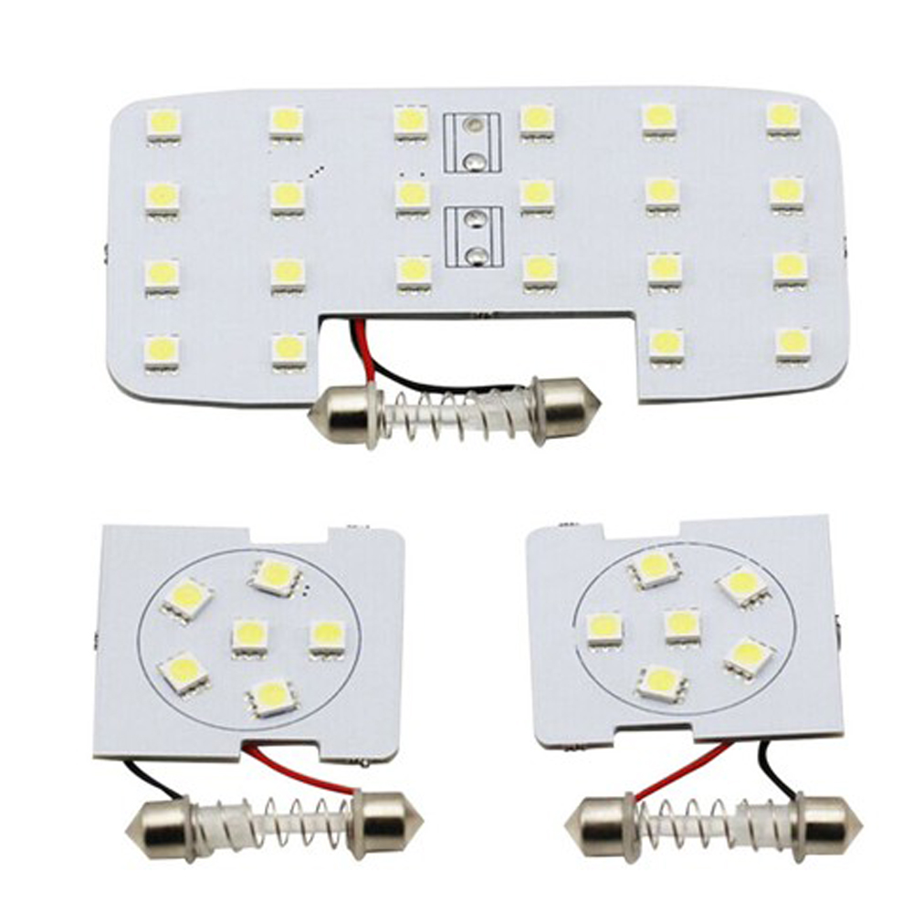 3PCS/Set Car reading lights dome lamps LED interior suitable For KIA RIO K2 2006 2017 for Hyundai solaris Verna-in Car Stickers from Automobiles & Motorcycles