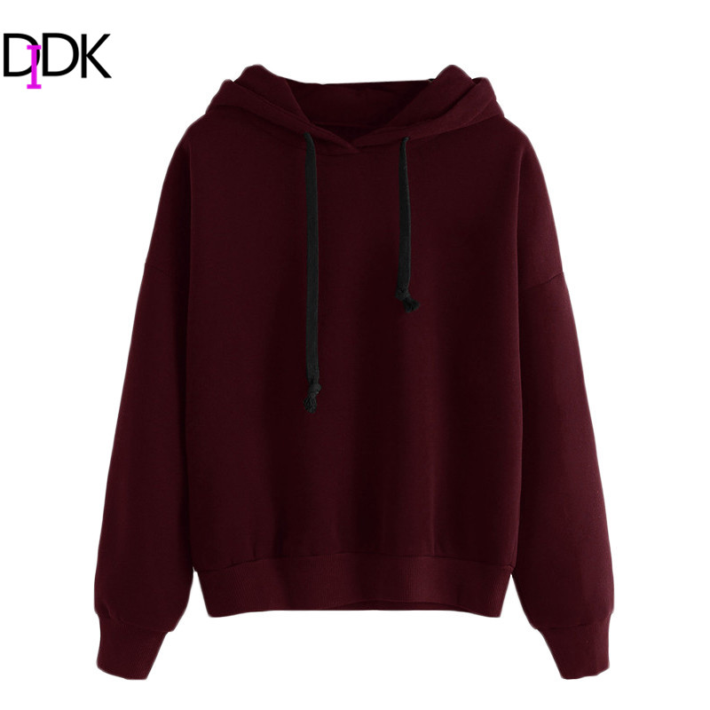 DIDK Sweatshirt Tops Shirt Long Sleeved Hoodies Women Autumn ...