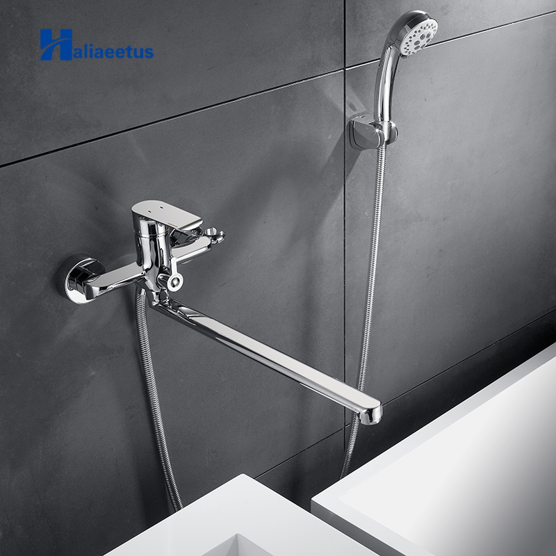 Haliaeetus Hot and Cold Shower set Mixer Wall Mounted Shower System White Painting Water taps Bathtub